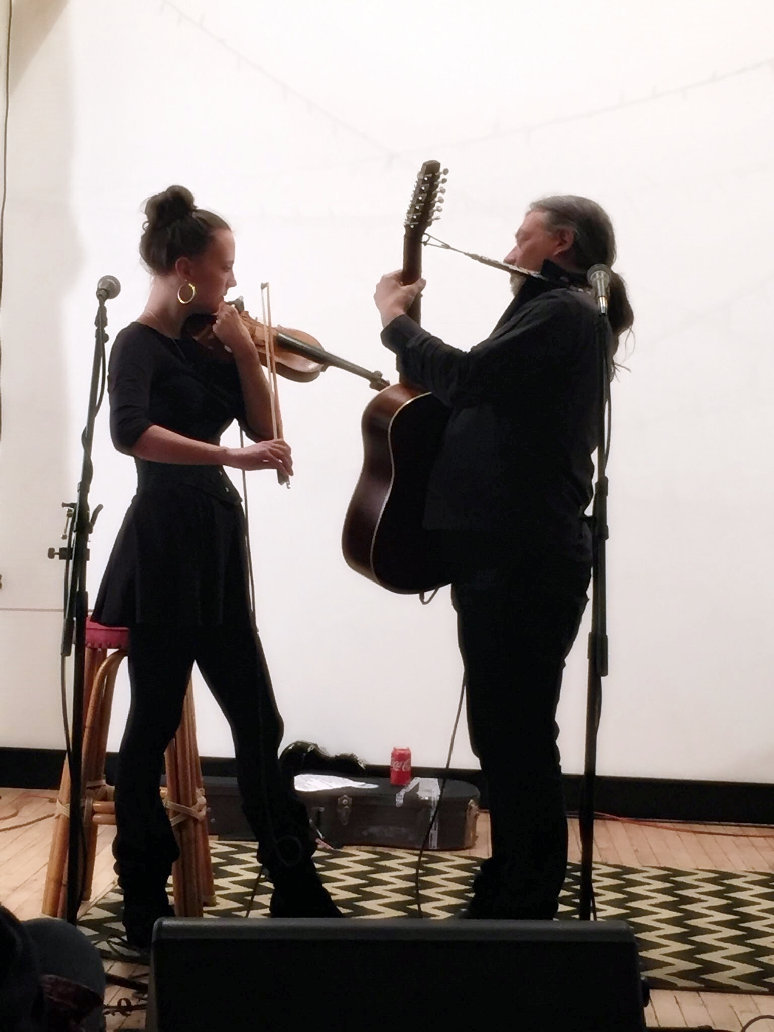 Olivia Willson-Piper (violin) and Marty Willson-Piper, Get Hip Recordings, Pittsburgh - Photo: Jeff Binczyk