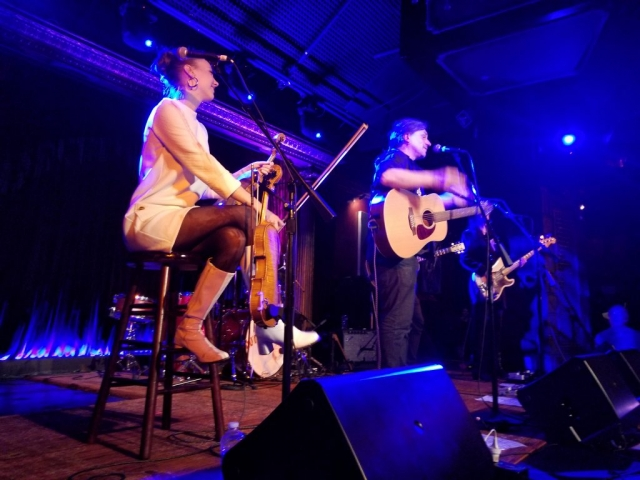 Olivia Willson-Piper and Marty Willson-Piper at the Cutting Room, New York - Photo: Mick Lewis