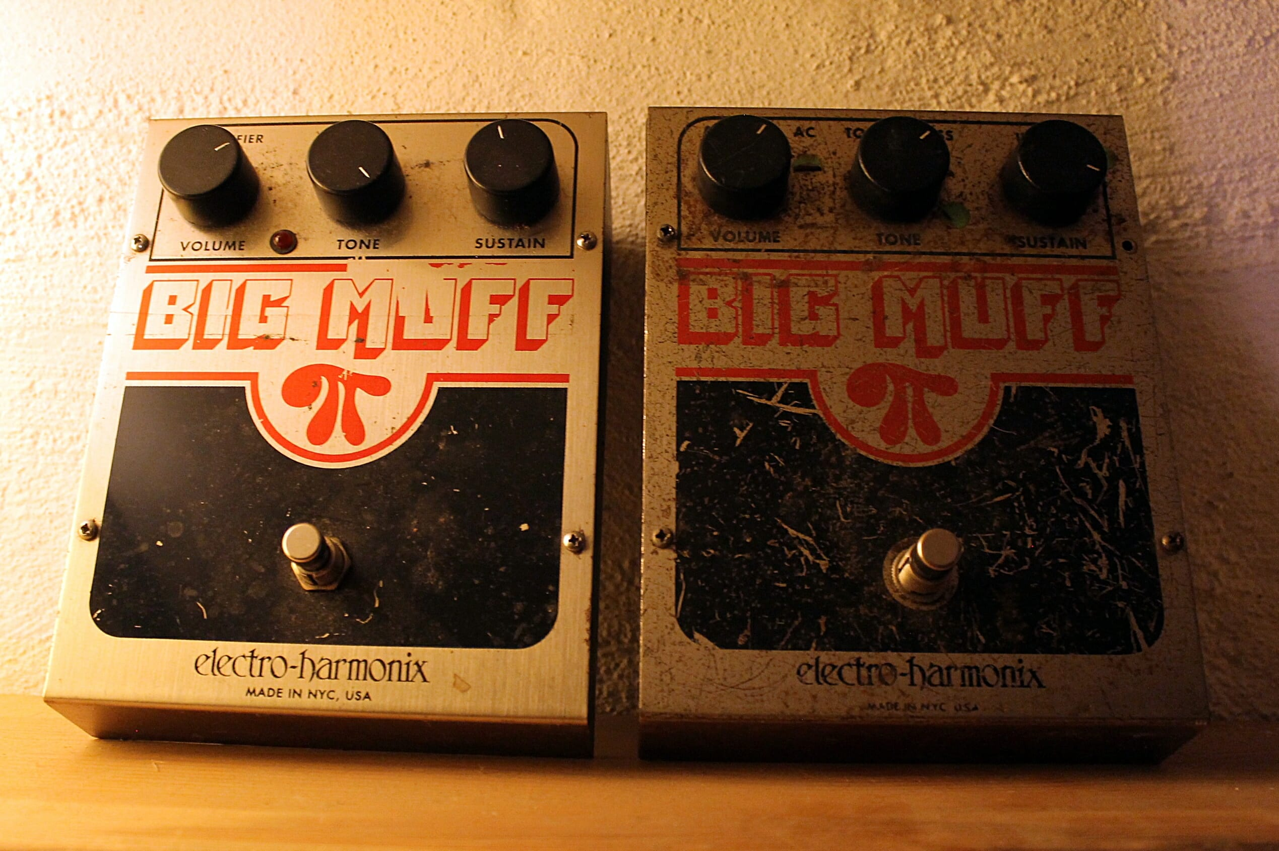 Reissue Big Muff & Original Big Muff, bought in a junk shop shop in Portland