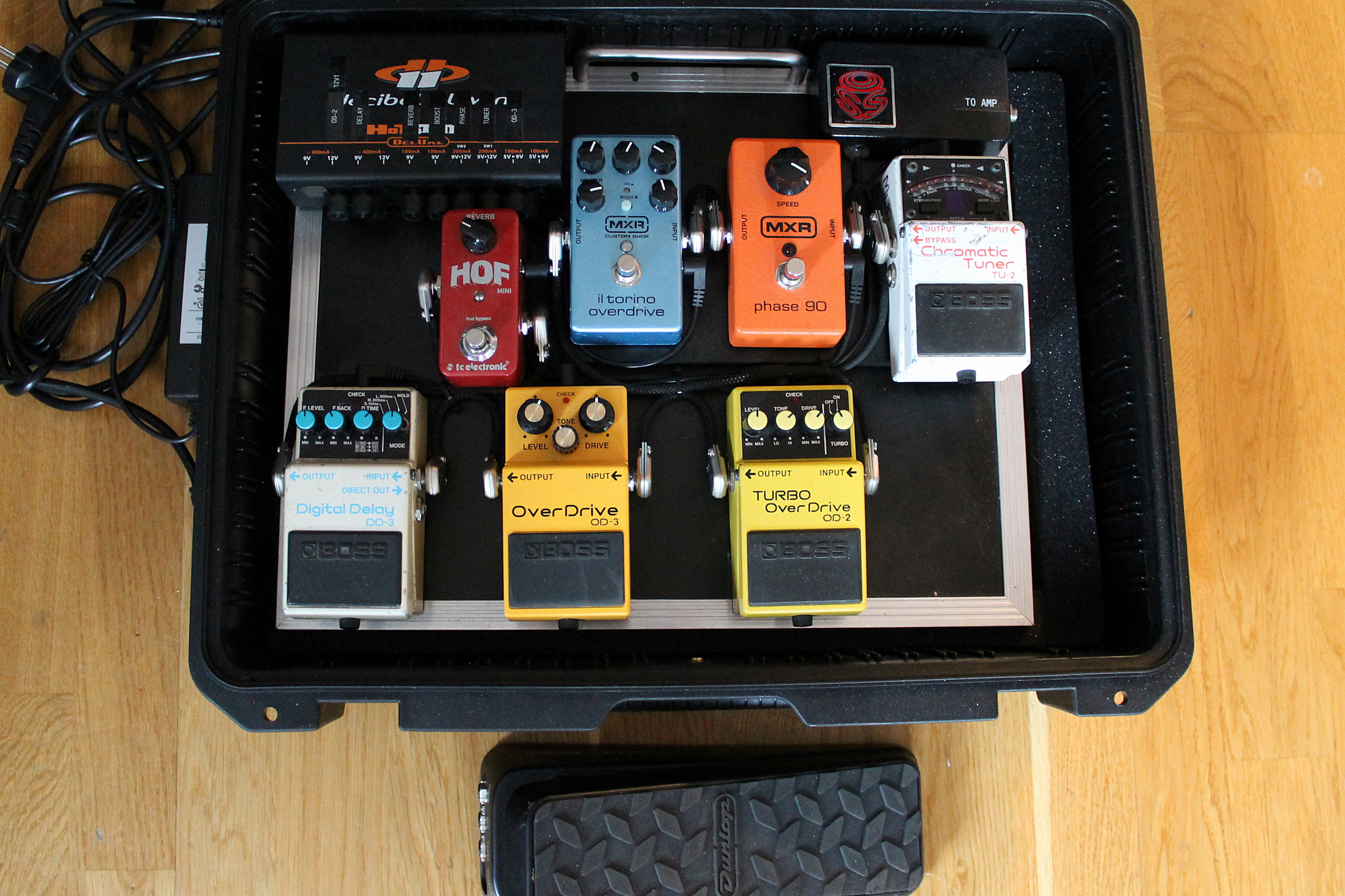 Anekdoten Pedal Board by Marty Willson-Piper