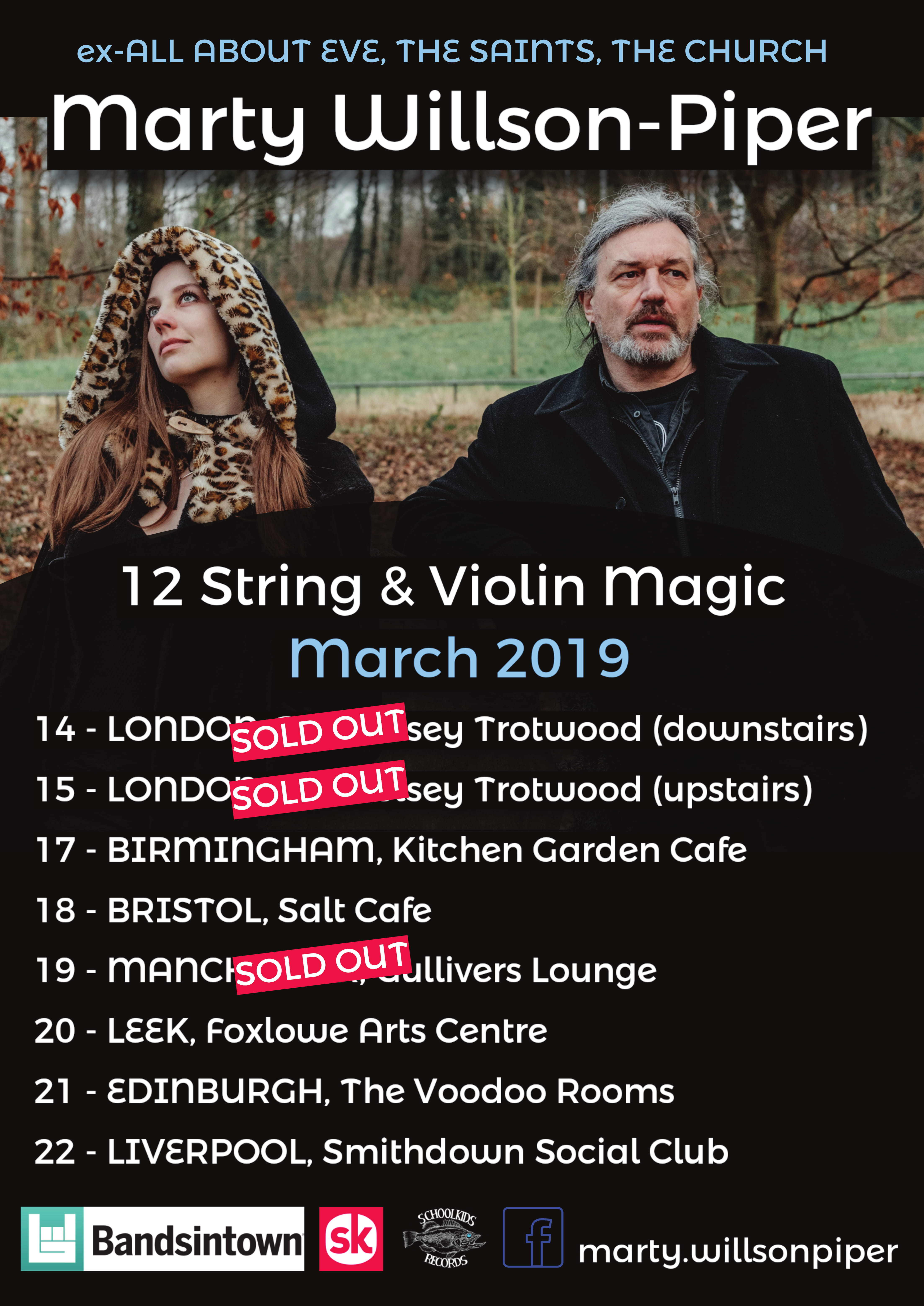 Marty and Olivia Willson-Piper UK Tour 2019