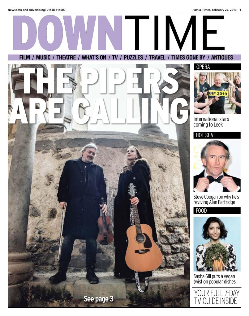 Marty and Olivia Willson-Piper featured in the Leek Post & Times February 2019