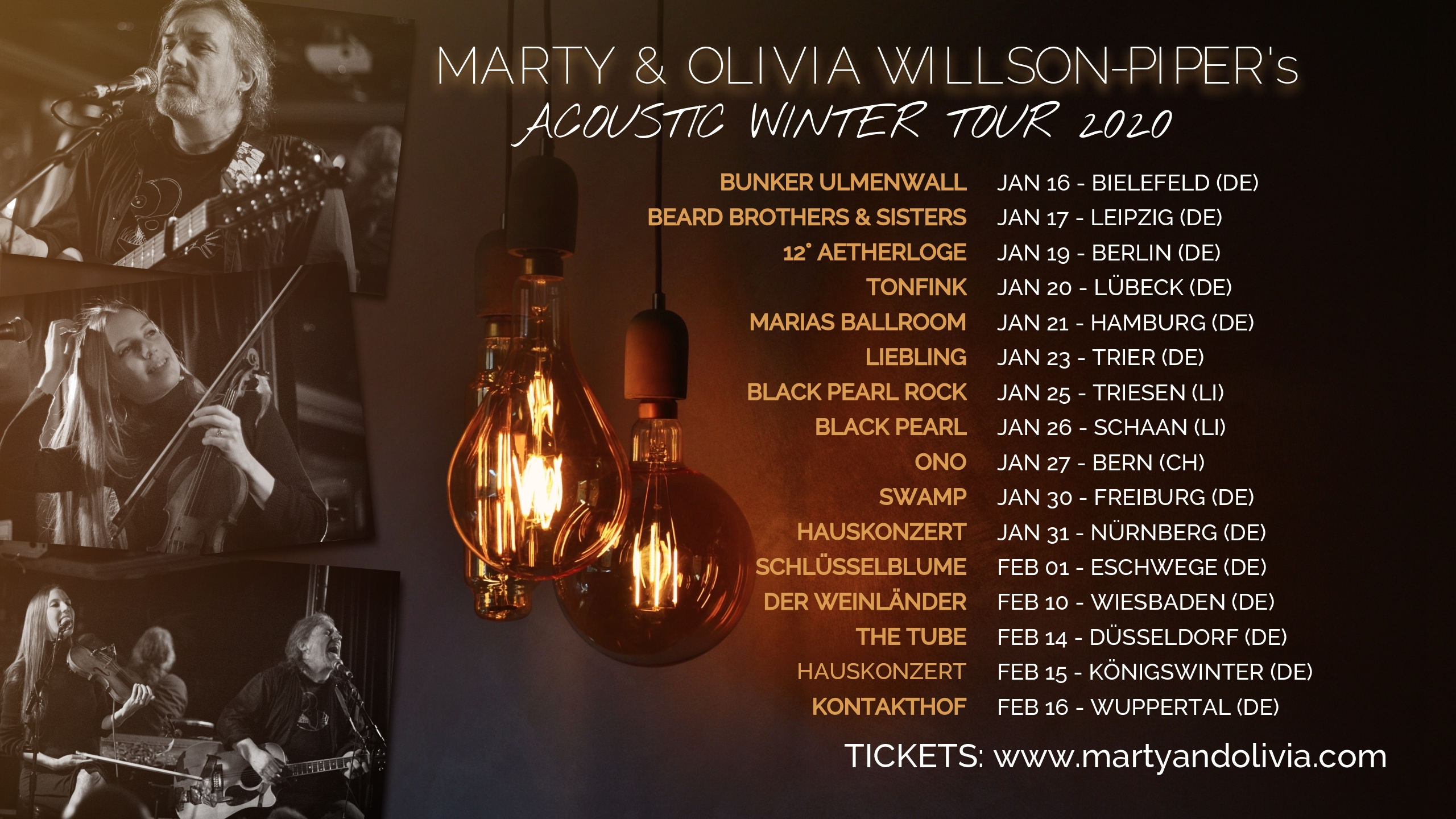 Marty and Olivia Willson-Piper Winter Tour 2020